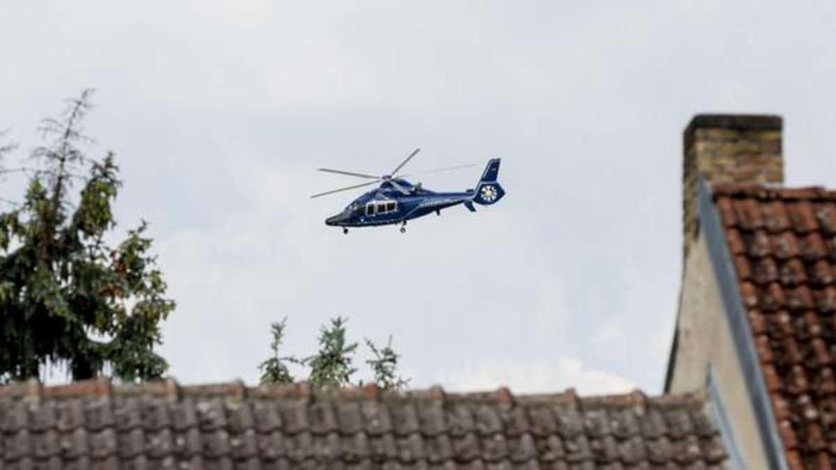 Hubschrauber über Nauheim